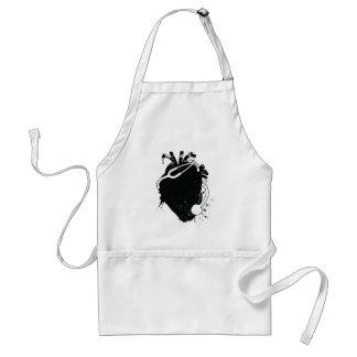 anatomical heart stethoscope adult apron