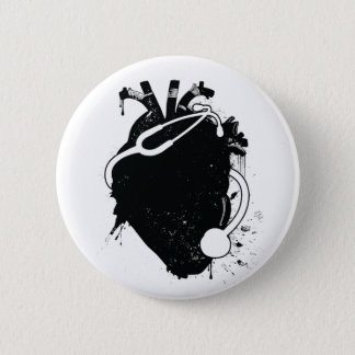 anatomical heart stethoscope button