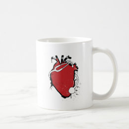 anatomical heart stethoscope coffee mug