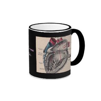 Anatomical Heart vintage diagram personalized Coffee Mug