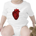 Anatomical Human Heart Baby Bodysuit