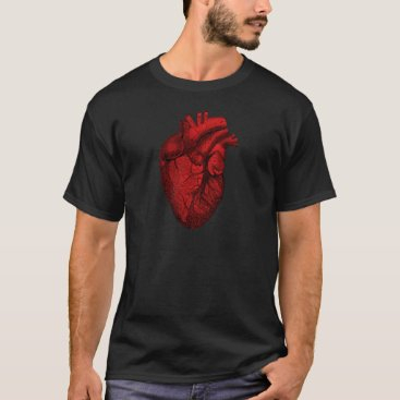 Valentines Themed Anatomical Human Heart T-Shirt
