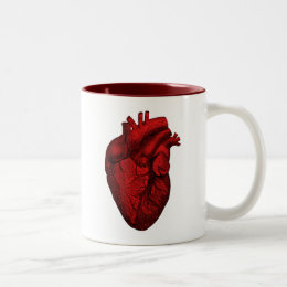 Anatomical Human Heart Two-Tone Coffee Mug