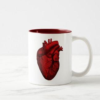 Anatomical Human Heart Two-Tone Coffee Mug