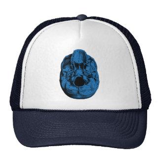 Anatomical Human Skull Base Blue Mesh Hat