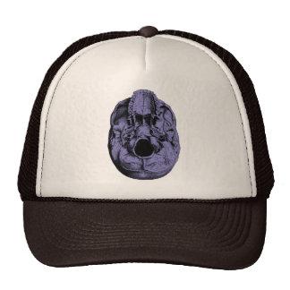 Anatomical Human Skull Base Blue Trucker Hat