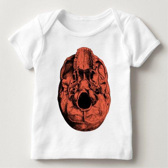 Anatomical Human Skull Base Orange Baby T-Shirt