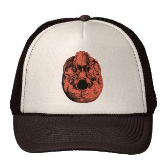 Anatomical Human Skull Base Orange Hat