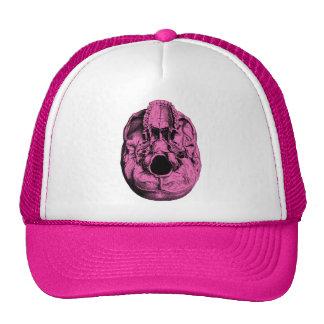 Anatomical Human Skull Base Pink Mesh Hat