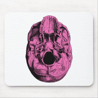 Anatomical Human Skull Base Pink Mouse Pad