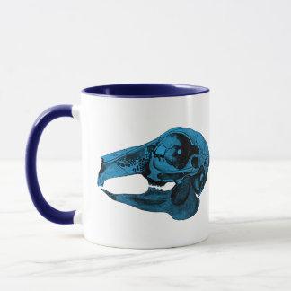 Anatomical Rabbit Skull Blue Mug