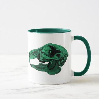 Anatomical Rabbit Skull Green Mug