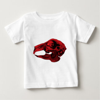 Anatomical Rabbit Skull Red Baby T-Shirt