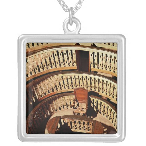 Anatomical theatre, built 1594-95 square pendant necklace