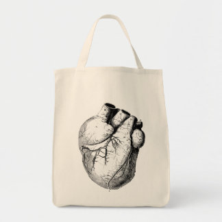 Anatomically Correct Heart Canvas Bags