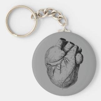 Anatomically Correct Heart Basic Round Button Keychain