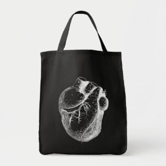 Anatomically Correct Heart Grocery Tote Bag