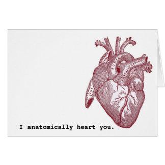 Anatómico corazón I usted Tarjeta De Felicitación