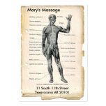 Anatomy Anterior and Posterior Large Business Cards (Pack Of 100)