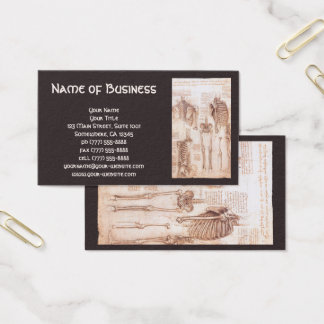 Anatomy Drawings Human Skeletons Leonardo da Vinci Business Card