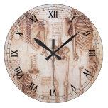 Anatomy Drawings Human Skeletons Leonardo da Vinci Wall Clocks