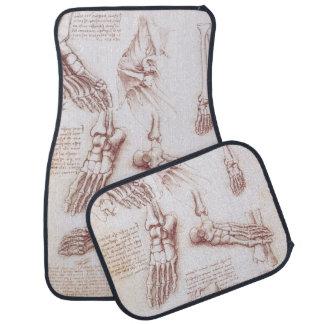 Anatomy Human Foot Skeleton Bones da Vinci Floor Mat
