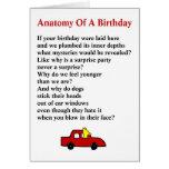 Anatomy of a Birthday - a quirky birthday poem Card
