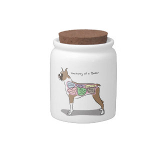 Anatomy of a Boxer Dog gifts Candy Jar