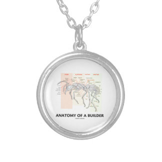 Anatomy Of A Builder (Worker Ant Anatomy) Silver Plated Necklace