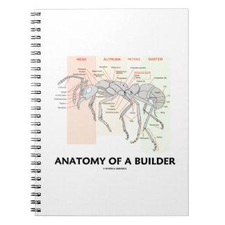 Anatomy Of A Builder (Worker Ant Anatomy) Spiral Notebook