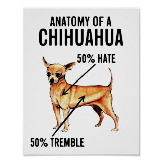 Anatomy of a Chihuahua 50% Hate 50% Tremble Poster