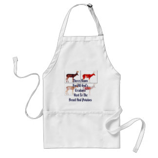 anatomy of a deer, Theres Room For All God's Cr... Adult Apron