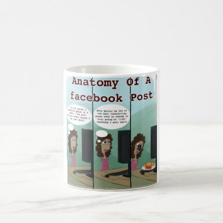 Anatomy Of A facebook Post Funny Classic White Coffee Mug