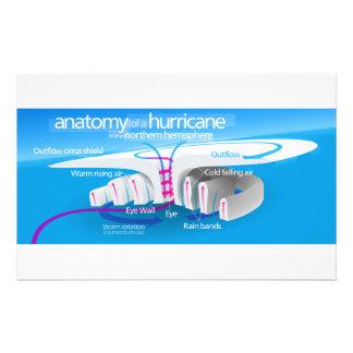 Anatomy of a Hurricane Diagram Stationery