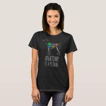Anatomy of a pit bull funny t shirt for dog lovers