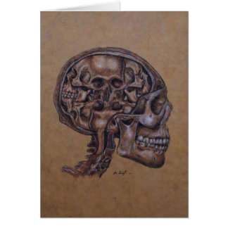 Anatomy of a Schizophrenic Stationery Note Card