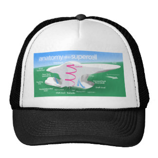 Anatomy of a Supercell Storm Diagram Trucker Hat