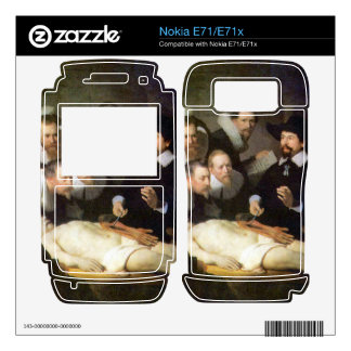 Anatomy of Dr. Tulp by Rembrandt Nokia E71 Decal