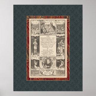 Anatomy of Melancholy Fascinating Antique Print