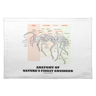 Anatomy Of Nature's Finest Engineer (Worker Ant) Cloth Placemat