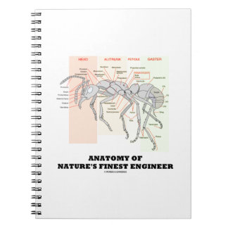 Anatomy Of Nature's Finest Engineer (Worker Ant) Spiral Notebook