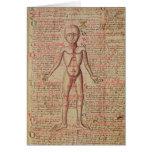Anatomy of the human body card