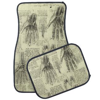 Anatomy of the Human Hand by Leonardo da Vinci Car Floor Mat