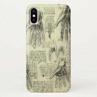 Anatomy of the Human Hand by Leonardo da Vinci iPhone X Case