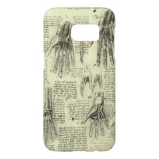 Anatomy of the Human Hand by Leonardo da Vinci Samsung Galaxy S7 Case
