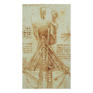 Anatomy of the Neck by Leonardo Da Vinci c. 1515 Business Cards