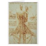 Anatomy of the Neck by Leonardo Da Vinci c. 1515 Greeting Card