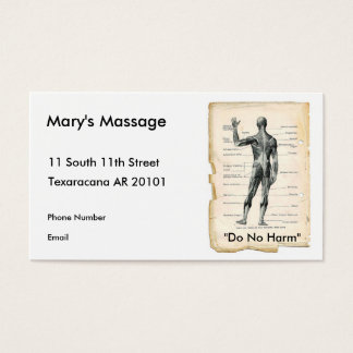 Anatomy Posterior Business Card