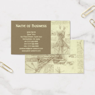 Anatomy Sketch of Spinal Column Leonardo da Vinci Business Card