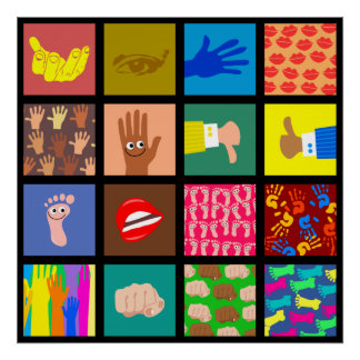 Anatomy Tile Wallpaper Poster